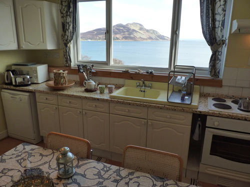 View to Holy Isle from the kitchen